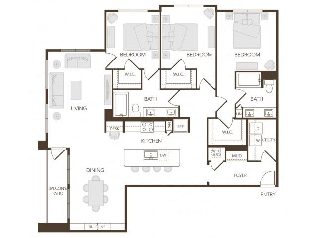 Alys Crossing Apartments- C2 Floor Plan