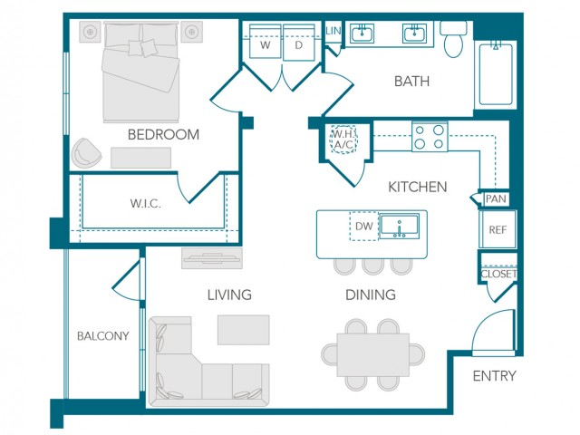 Stone Loch Apartments- A2C Floor Plan