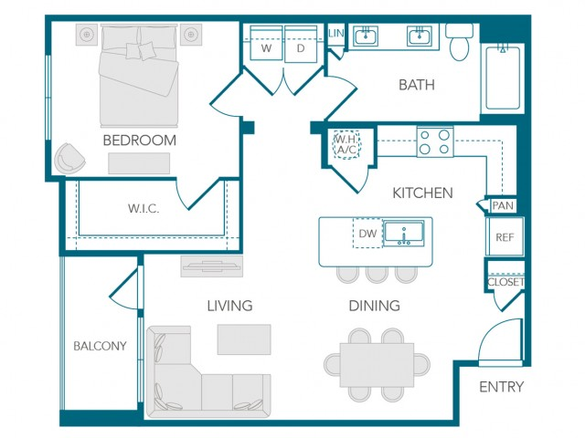 Stone Loch Apartments- A2D Floor Plan