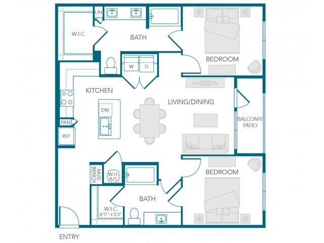 Stone Loch Apartments- B2C Floor Plan