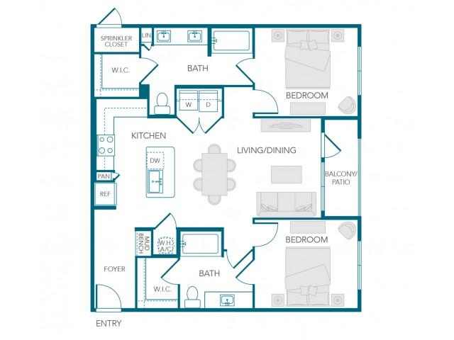 Stone Loch Apartments- B2E Floor Plan