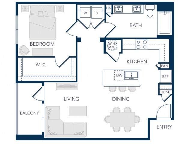 The Rosemary Apartments- A2 Floor Plan