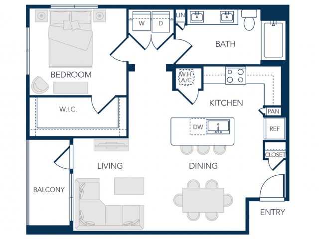 The Rosemary Apartments- A2A Floor Plan
