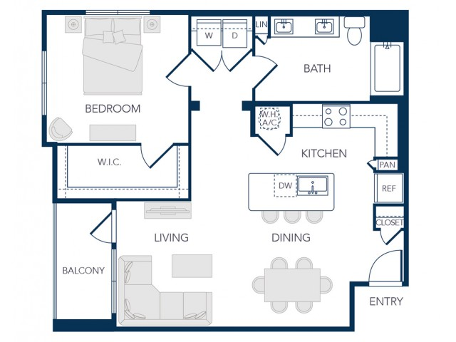 The Rosemary Apartments- A2B Floor Plan