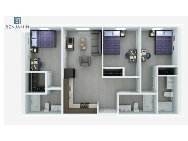 3 Bedroom 3 Bath Compact