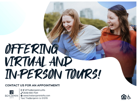 We are offering virtual and in-person tours!