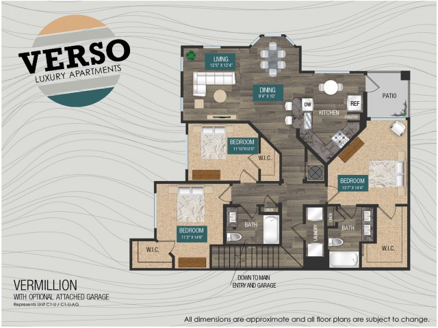 Vermillion C1-U floor plan