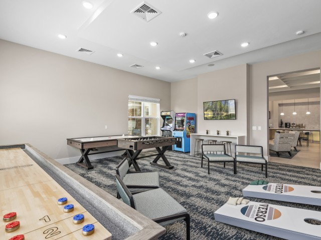 Awesome Game Room | Verso Luxury Apartments