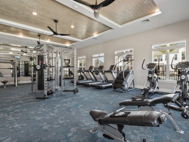 Large fitness center | Verso Luxury Apartments