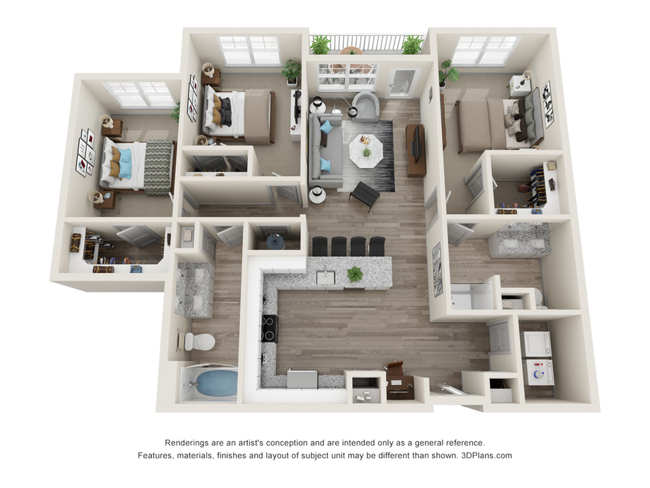Verge Luxury Flats | Threshold Floor Plan