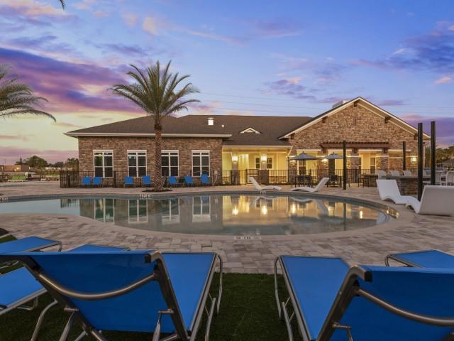 Evening Swimming Pool | Verso Luxury Apartments