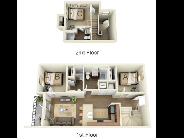 3 Bedroom 3 Bath A Loft