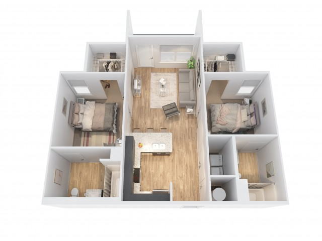 *rendering is a visual representation of the floorplan and may not be to scale.