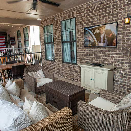 Image of Private Balcony With TV for Balcony Auburn
