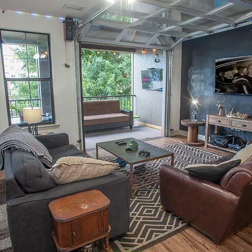 Image of Roll Up Garage Doors In Living Room for Balcony Auburn