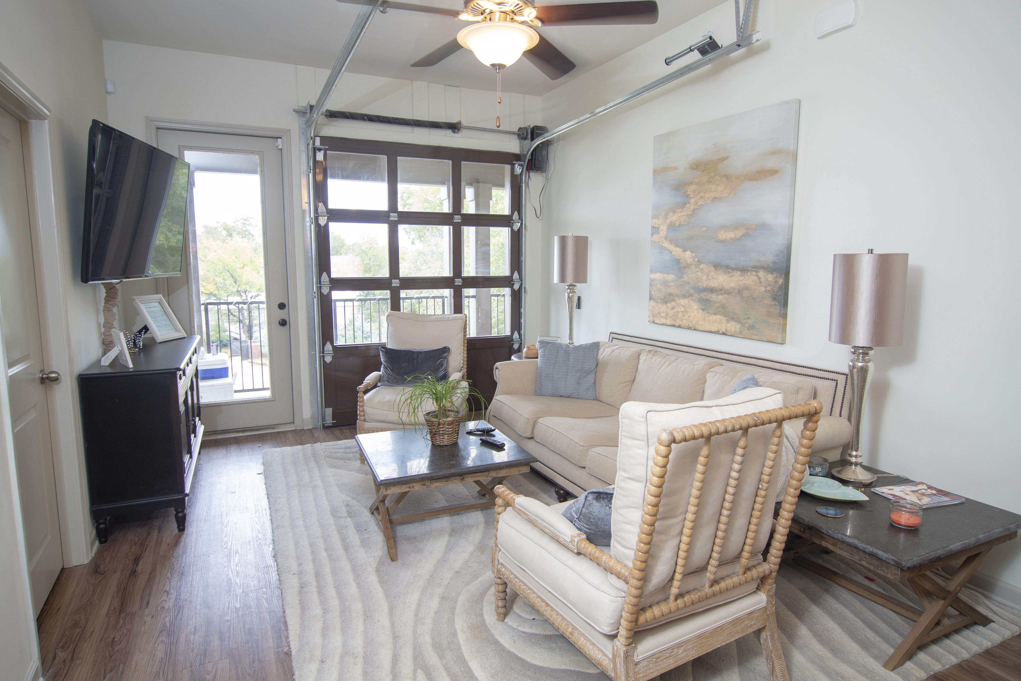 Image of Roll Up Garage Doors In Living Room for Balcony MSU