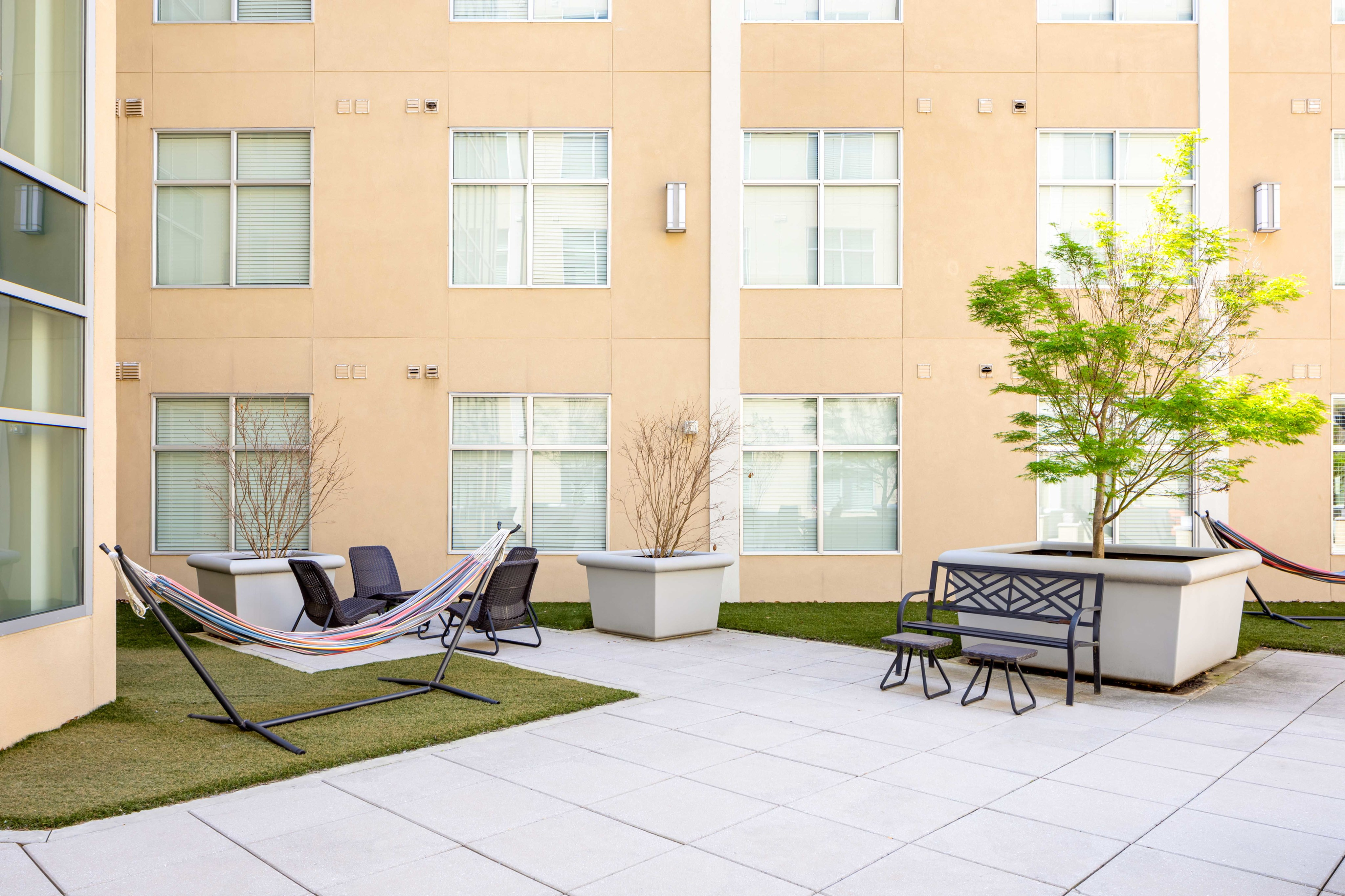 Image of Courtyard With Hammocks for 200 Edgewood