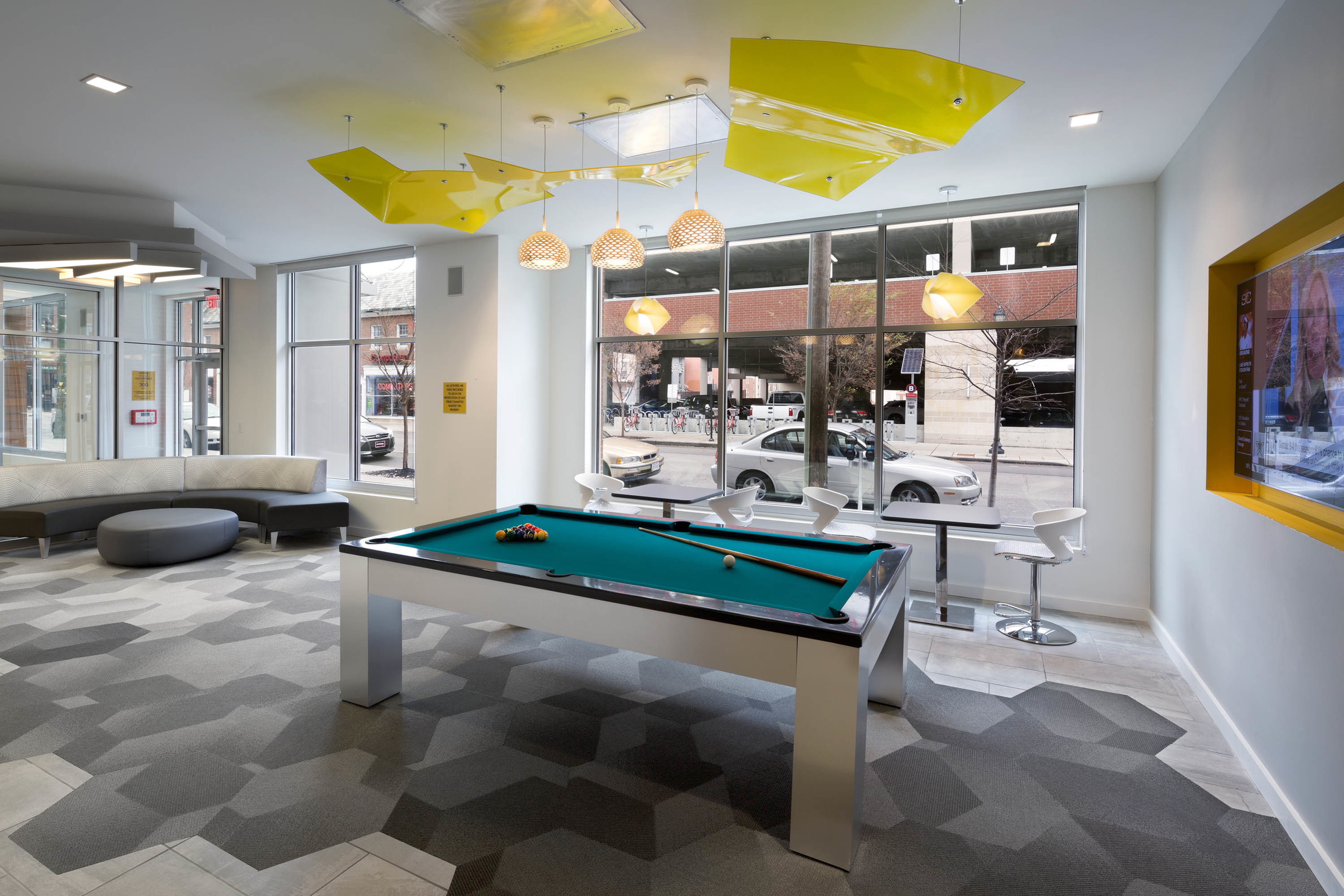 Image of Social Lounge with Game Room for The Verge