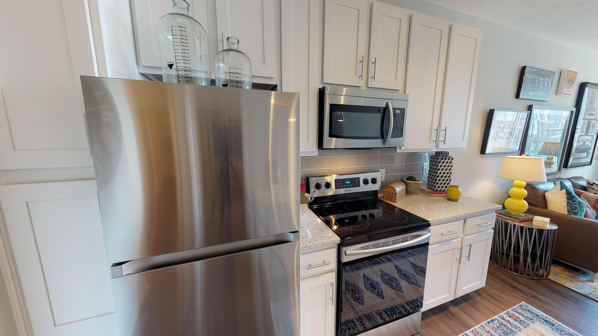 Image of Tile Backsplash & Quartz Countertops for Luxe Belle- Student Living