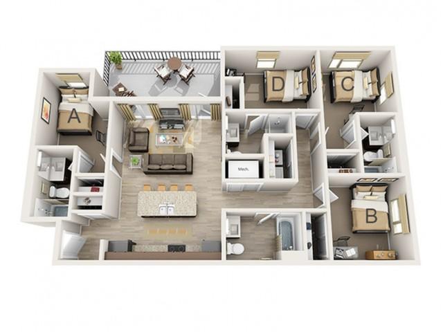 4 Bedroom A
