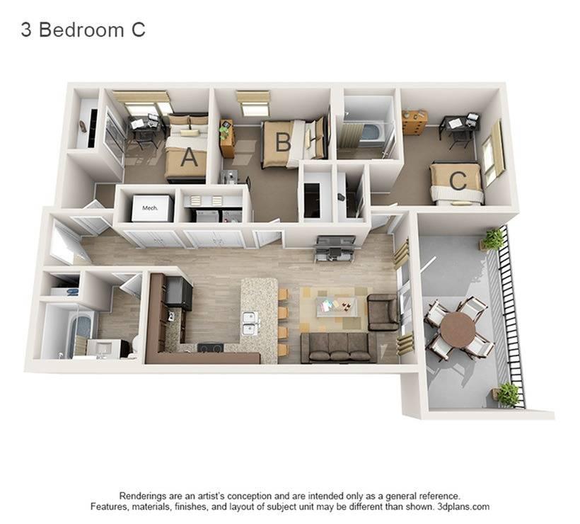 3 Bedroom C