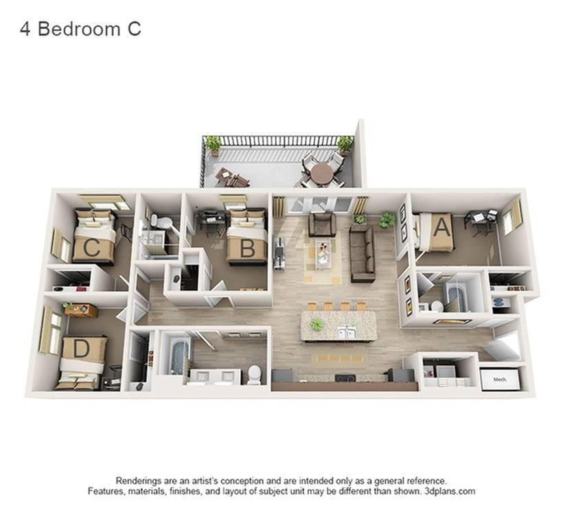 4 Bedroom C