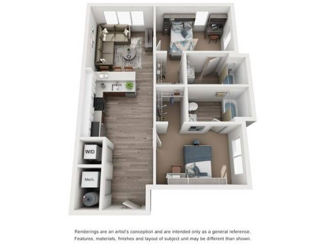 A2: One Bed / One Bath