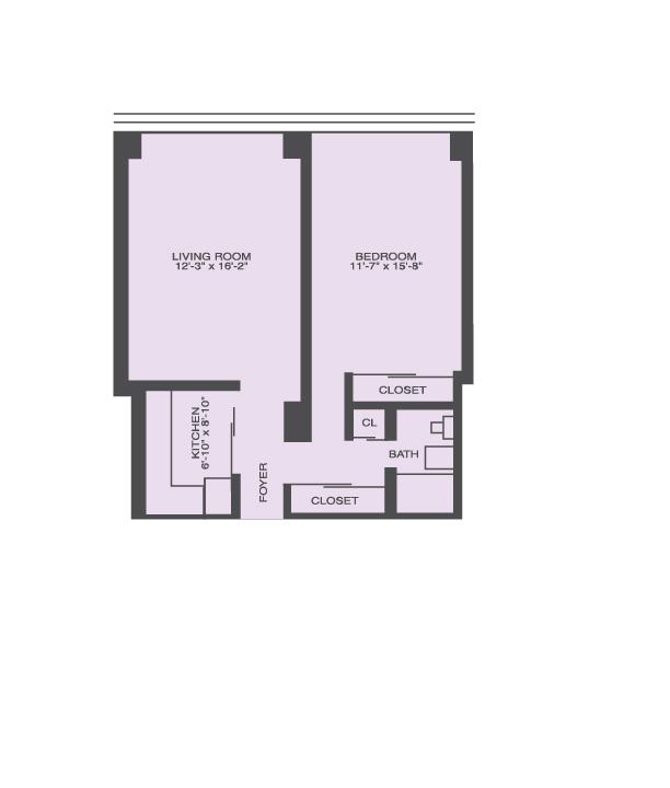 1 Bedroom Floor Plan | Prairie Shores