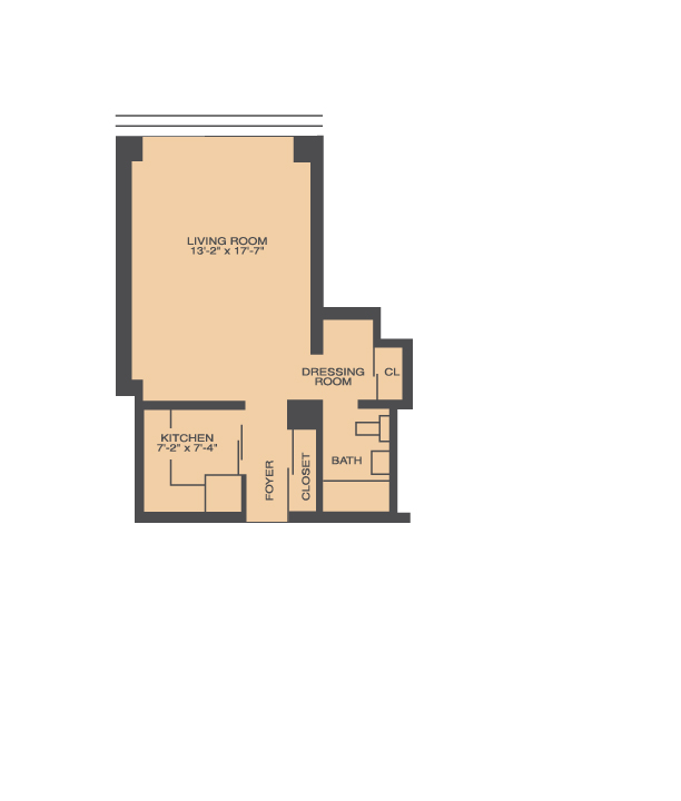 Studio Floor Plan | Prairie Shores