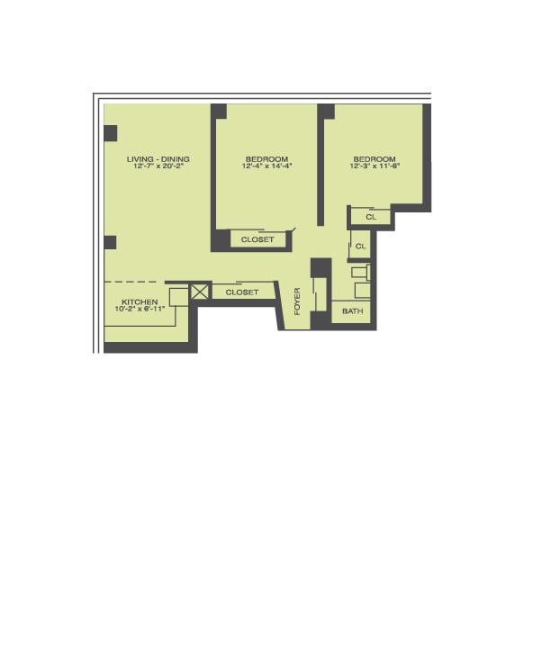 2 Bedroom Floor Plan | Prairie Shores