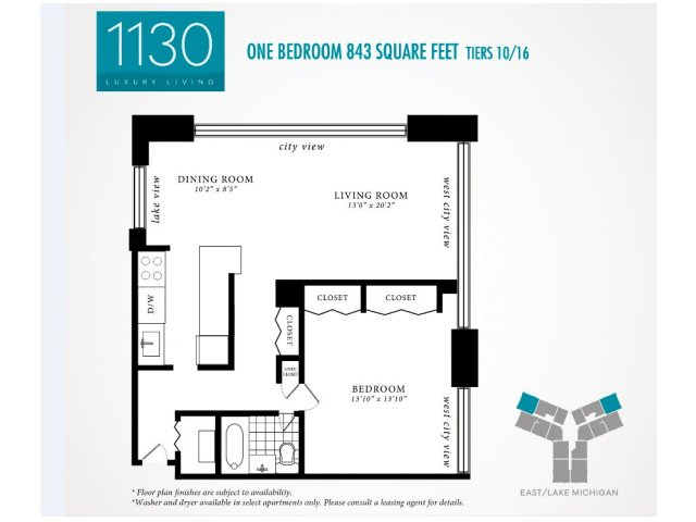 Floor Plan 6 | 1130 South Michigan