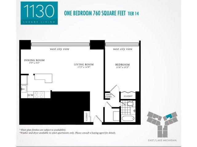 Floor Plan 7 | 1130 South Michigan