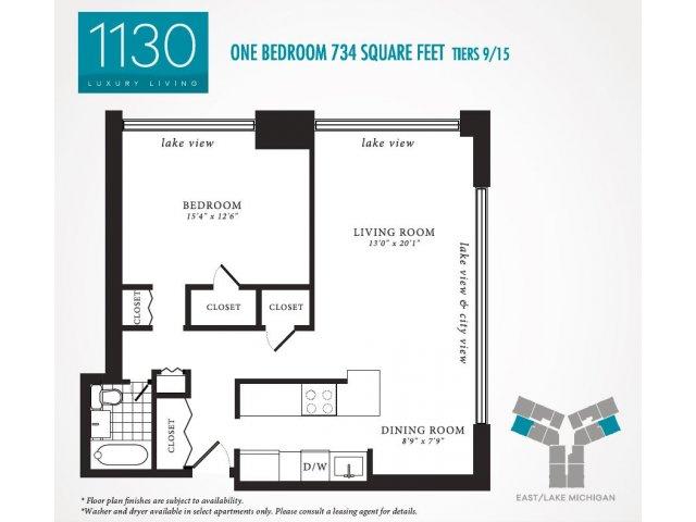 Floor Plan 5 | 1130 South Michigan