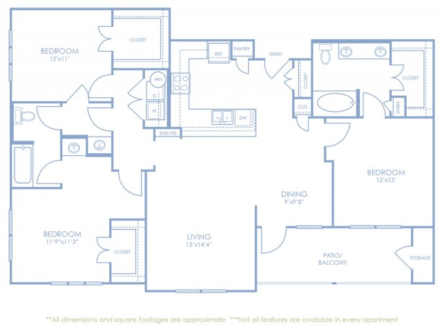 Floor Plan 3 | Sonterra Blue