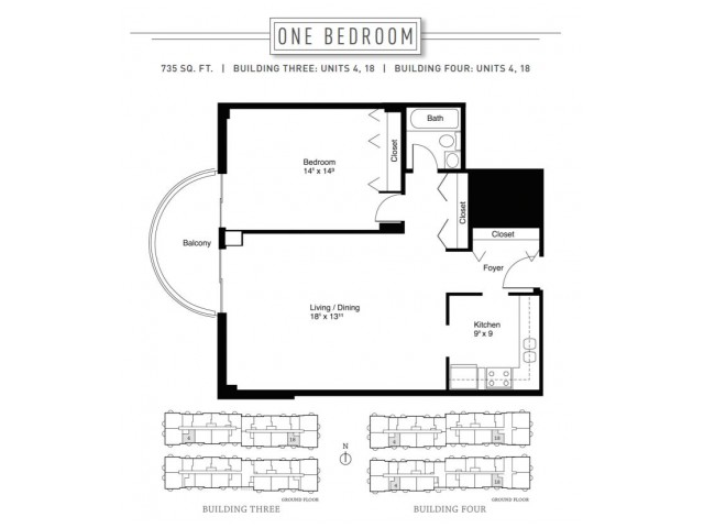 1 Bedroom Floor Plan | Wheaton Center