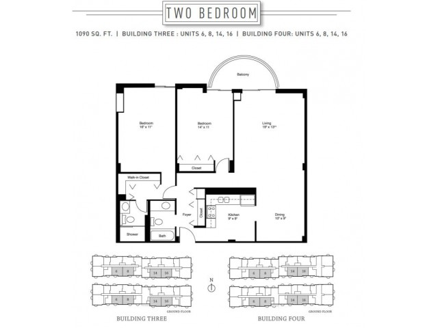 2 Bedroom Floor Plan | Wheaton Center 7