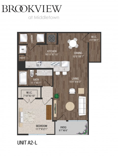 1 Bedroom 1 Bath - A2L