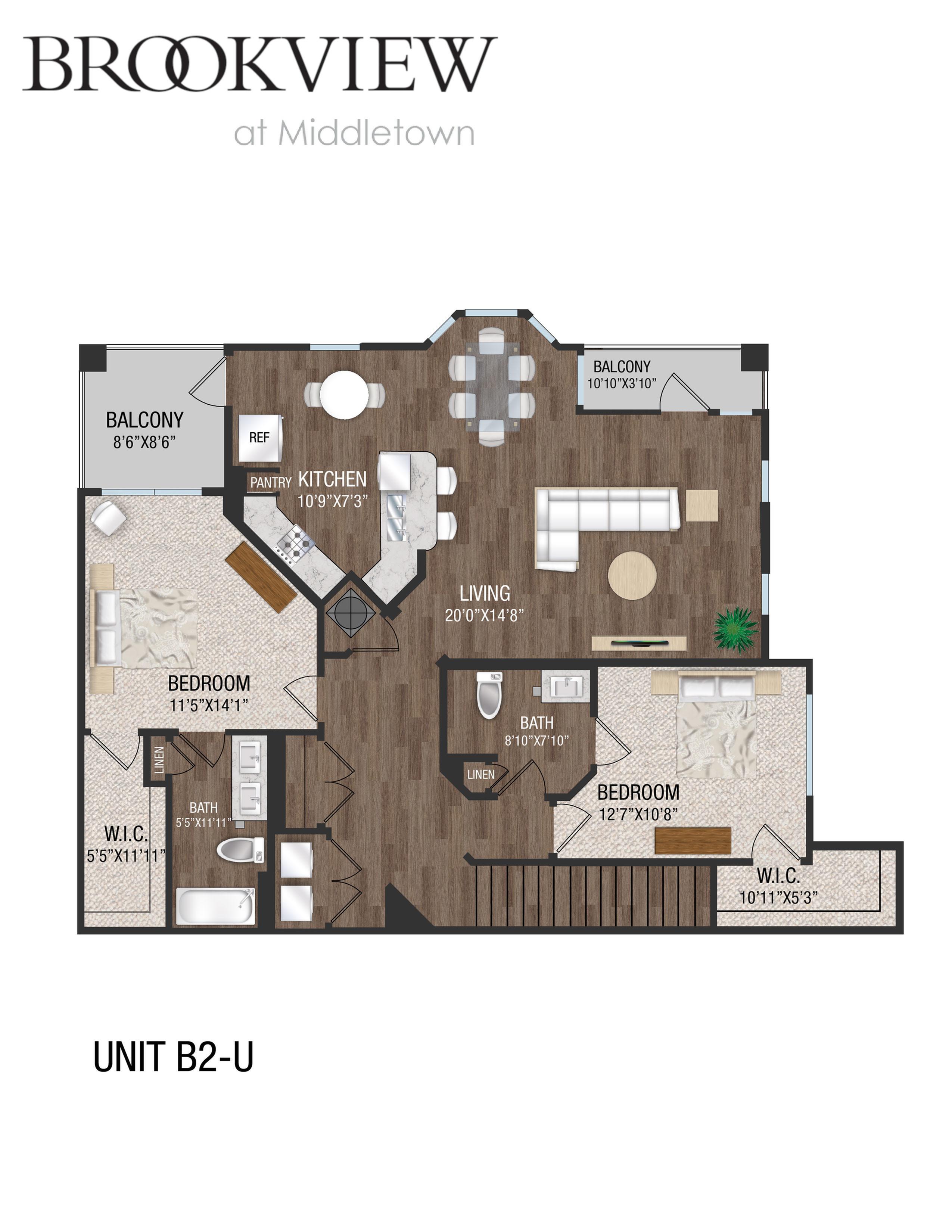 2 Bed 2 Bath - B2U