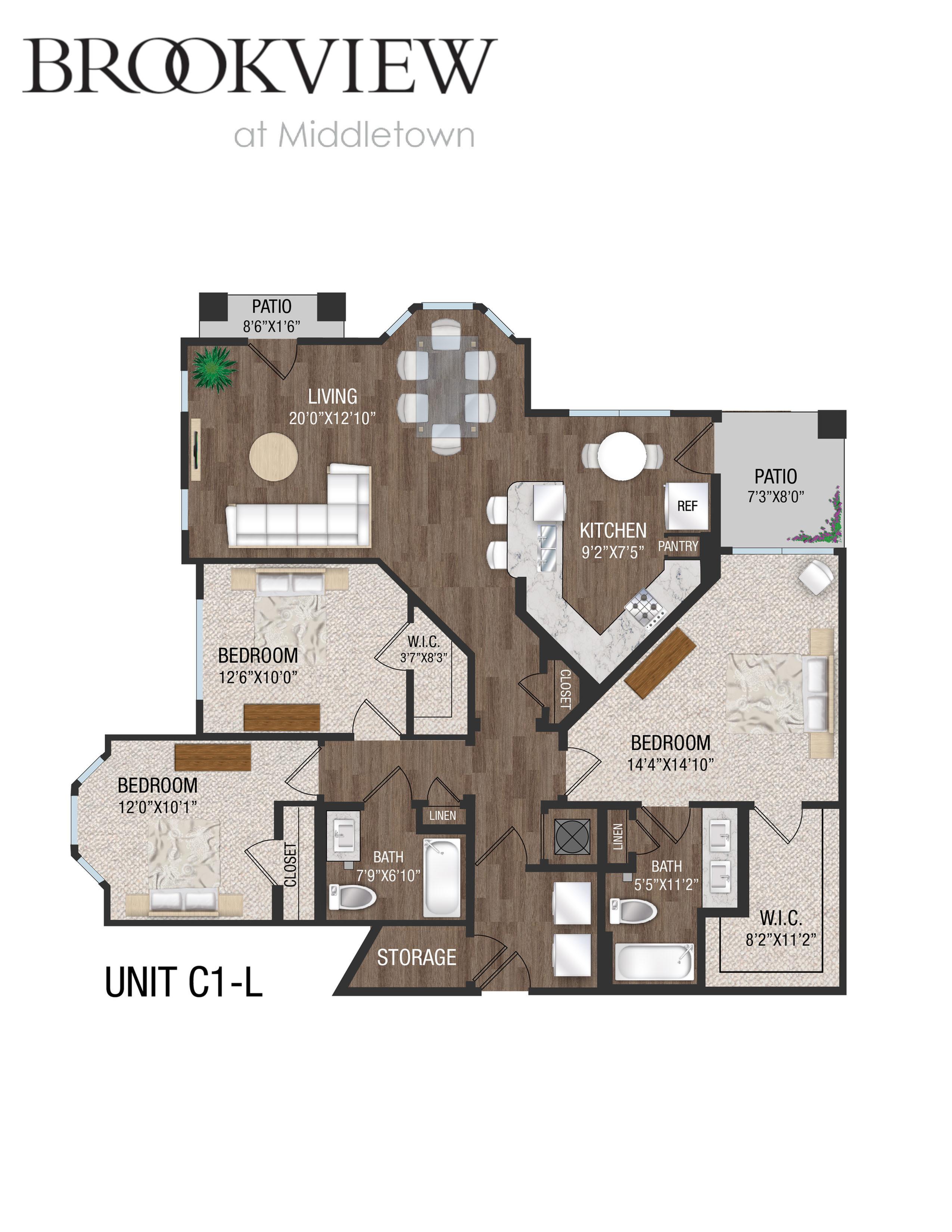 3 Bed 2 Bath - C1L