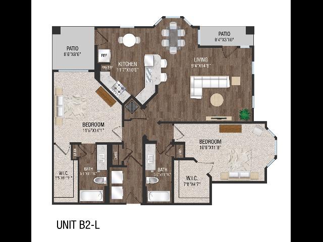2 Bed 2 Bath - B2L