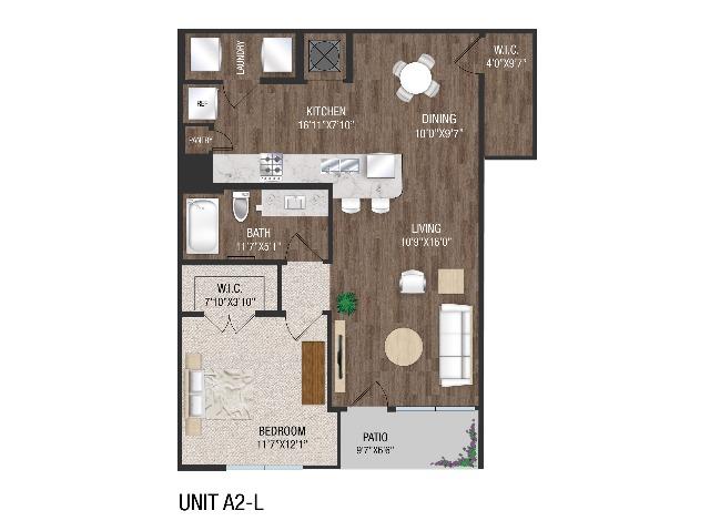 1 Bedroom 1 Bath - A2L
