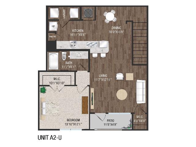 1 Bedroom 1 Bath - A2U