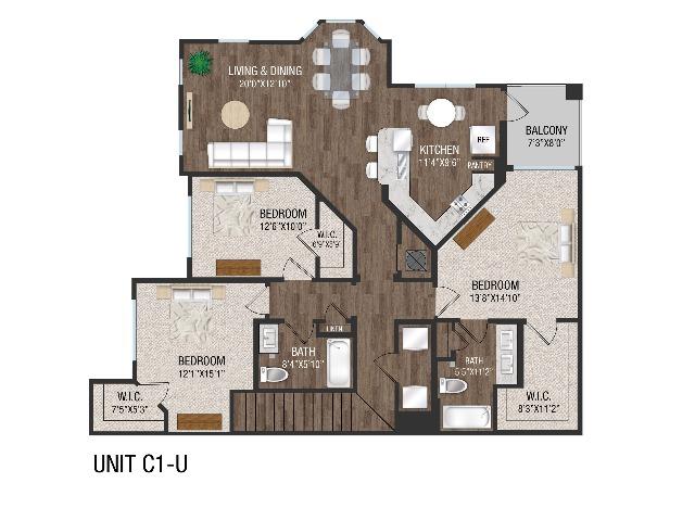 3 Bed 2 Bath - C1GU