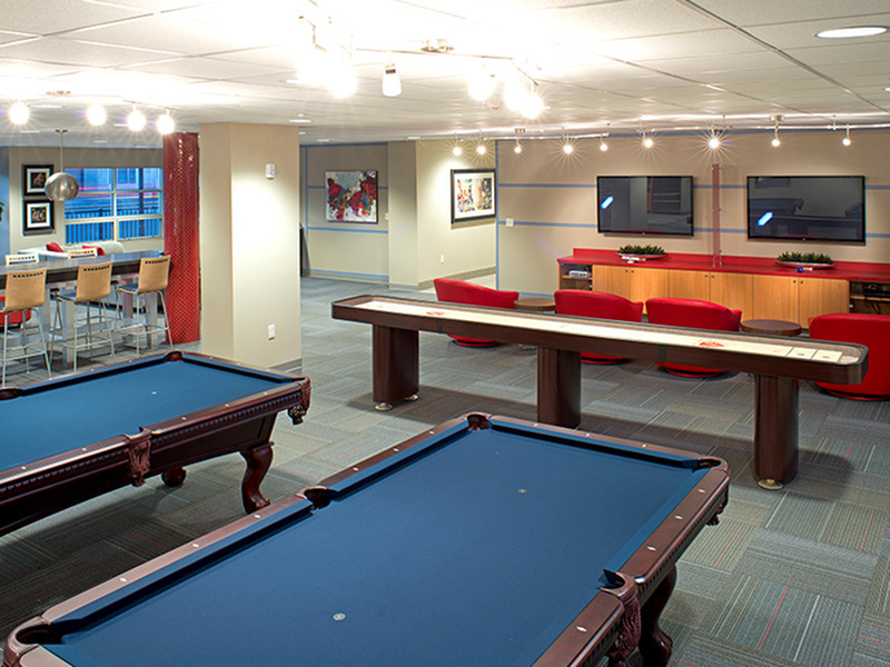 Image of TV Lounge for College Suites at Washington Square