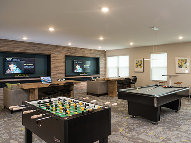Image of TV Lounge for College Suites at Hudson Valley