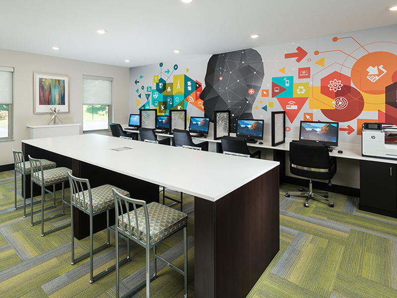 Image of Business Center for College Suites at Hudson Valley