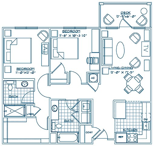 The Lodge at BridgeMill, Canton GA | The Surrey floorplan