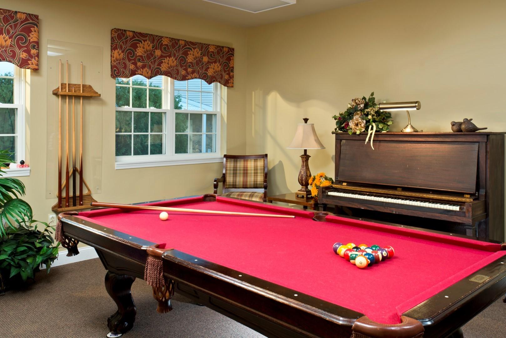 Hearthstone Village billiard room