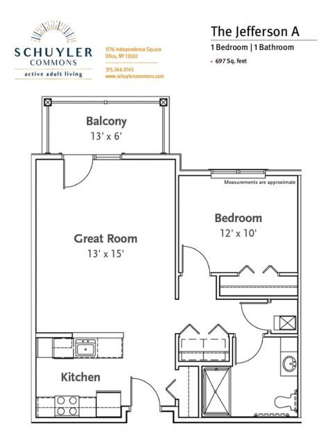 Jefferson A floor plan