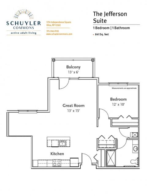 Jefferson Suite floor plan